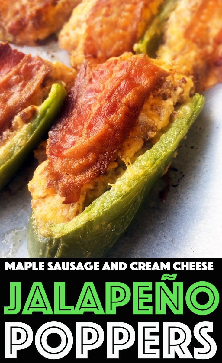 Maple Sausage and Cream Cheese Jalapeno Poppers