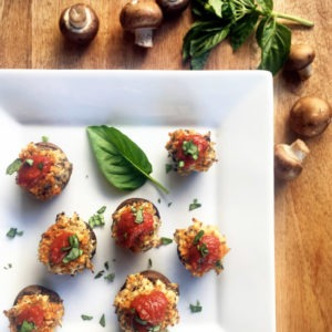 Chicken Parmesan Stuffed Mushrooms