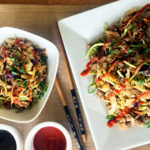 Maple Pork Egg Roll Bowl – Low Carb