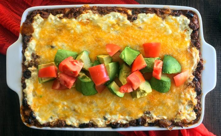 Baked Enchilada Casserole-- El Dorado style!