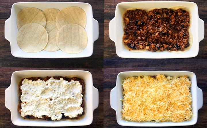 Layered El Dorado Enchilada Lasagna