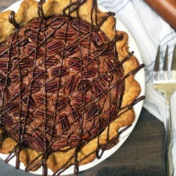 Gold Medal Dark Chocolate Pecan Pie