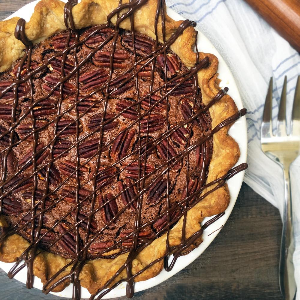 Gold Medal Dark Chocolate Pecan Pie