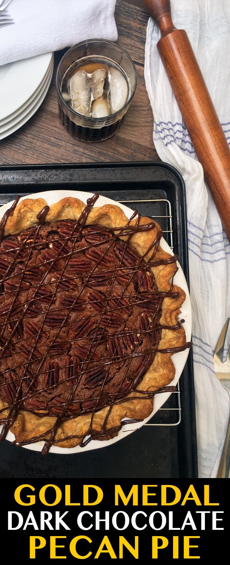 Gold Medal Dark Chocolate Pecan Pie!