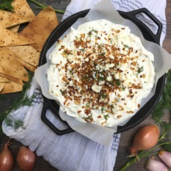 Keto Diet Blue Cheese Shallot Dip - Low Carb.