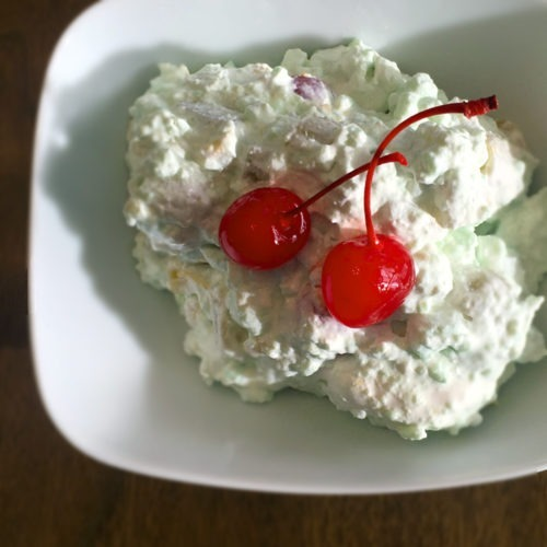 Tremendous 7 Up Salad With Lime Jello And Marshmallows Interior Design Ideas Clesiryabchikinfo